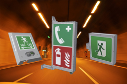Tunnel Emergency signs